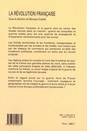 La Revolution Francaise ; La Guerre Et La Frontiere - 4ème de couverture - Format classique