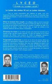 Lyceo, Guide Du Lyceen Actif - 4ème de couverture - Format classique