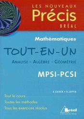 Tout en un maths mpsi-pcsi - Intérieur - Format classique