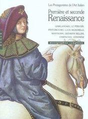 Premiere et seconde Renaissance ; les protagonistes de l'art italien ; monographies complètes - Intérieur - Format classique