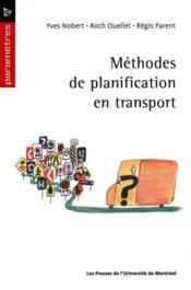 Méthodes de planification en transport - Couverture - Format classique