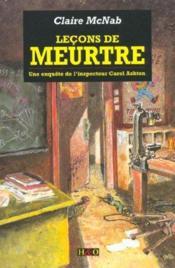 Lecons de meurtre - Couverture - Format classique