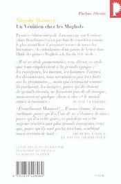 Un vénitien chez les moghols - 4ème de couverture - Format classique
