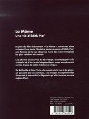 La môme ; une vie d'édith piaf - 4ème de couverture - Format classique