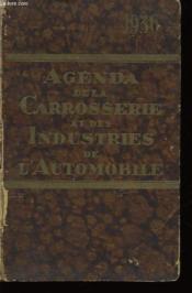 Agenda de la Carrosserie et des Industries de l'Automobile pour 1936 - Couverture - Format classique