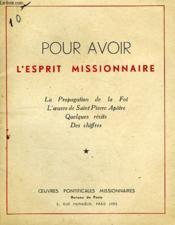 Pour Avoir L'Esprit Missionnaire - Couverture - Format classique