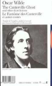 Le fantome des canterville et autres contes/the canterville ghost and other short fictions - Couverture - Format classique