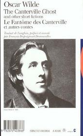 Le fantome des canterville et autres contes/the canterville ghost and other short fictions - 4ème de couverture - Format classique