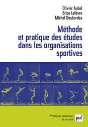 Méthode et pratique des études dans les organisations sportives - Intérieur - Format classique