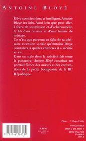 Antoine bloye - 4ème de couverture - Format classique