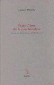 Etats D'Ame De La Psychanalyse - Intérieur - Format classique