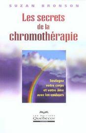 Les Secrets De La Chromotherapie - Intérieur - Format classique