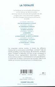La Totalite 5 - 4ème de couverture - Format classique