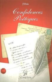 Confidences poétiques - Couverture - Format classique