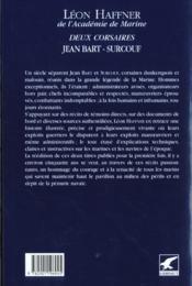 Grands marins ; deux corsaires jean Bart-Surcouf - 4ème de couverture - Format classique