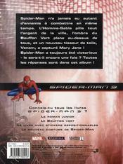 Spider-man 3 ; l'album du film - 4ème de couverture - Format classique