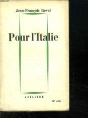 Pour L Italie. - Couverture - Format classique