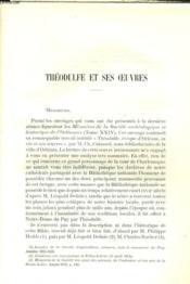 Theodulfe Et Ses Oeuvres - Couverture - Format classique