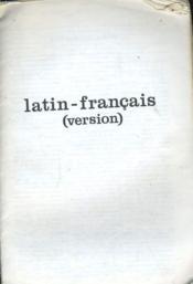 Latin - Francais (Version) - Couverture - Format classique