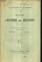 Manuel D'Histoire Des Religions. - Couverture - Format classique
