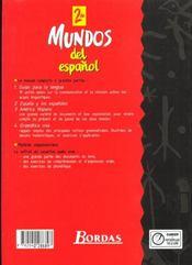Mundos del espanol 2e eleve 98 - 4ème de couverture - Format classique