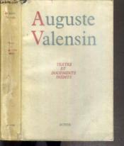 Auguste Valensin, Textes Et Documents Inedits - Couverture - Format classique