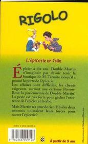 6. L'Epicerie En Folie - 4ème de couverture - Format classique