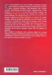 Jeux Poetiques La Poesie Par Tous Et Pour Tous - 4ème de couverture - Format classique
