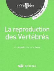 La reproduction des vertébrés - Intérieur - Format classique