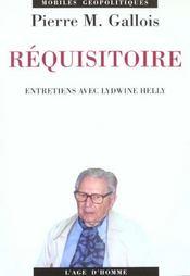 Requisitoire - Intérieur - Format classique