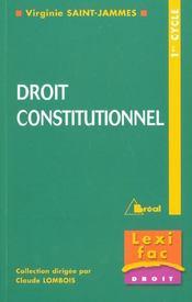 Droit constitutionnel - lexifac - Intérieur - Format classique