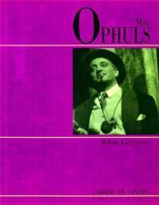 Max Ophuls - Couverture - Format classique