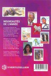 Catalogue mondial des nouveautés 2002 ; tous les timbres émis en 2002 - 4ème de couverture - Format classique