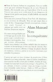 Nora la conquerante - 4ème de couverture - Format classique