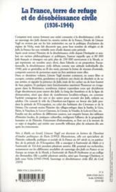 La france terre de refuge et de désobeissance civile ; étude du sauvetage des juifs (1936-1944) t.2 - 4ème de couverture - Format classique