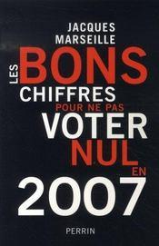 Les Bons Chiffres Pour Ne Pas Voter Nul En 2007 - Intérieur - Format classique