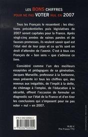 Les Bons Chiffres Pour Ne Pas Voter Nul En 2007 - 4ème de couverture - Format classique