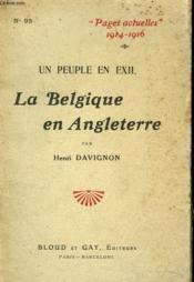 Un Peuple En Exil. La Belgique En Angleterre - Couverture - Format classique