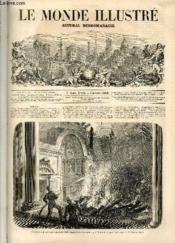 LE MONDE ILLUSTRE N°134 Incendie de la salle des séances du sénat, au palais du Luxembour, le 27 octobre. - Couverture - Format classique