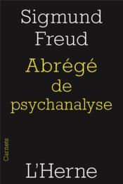 Abrégé de psychanalyse - Couverture - Format classique