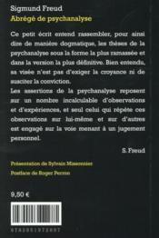 Abrégé de psychanalyse - 4ème de couverture - Format classique