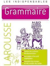 Les indispensables ; grammaire - Couverture - Format classique