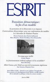 Esprit ; transition démocratique : la fin d'un modèle - Intérieur - Format classique