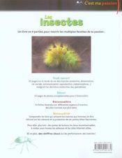 Les insectes - 4ème de couverture - Format classique