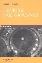 L'énigme San Giovanni - Couverture - Format classique