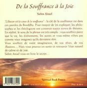 De La Souffrance A La Joie - 4ème de couverture - Format classique