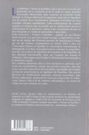 Bipedie, controle postural et representation corticale - 4ème de couverture - Format classique