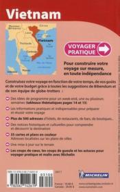 VOYAGER PRATIQUE ; Viêtnam (édition 2010) - 4ème de couverture - Format classique