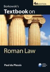 Borkowski's textbook on roman law (4e édition) - Couverture - Format classique