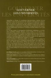 Gouverner les universités ; l'exemple de la coordination Genève-Lausanne (1990-2010) - 4ème de couverture - Format classique